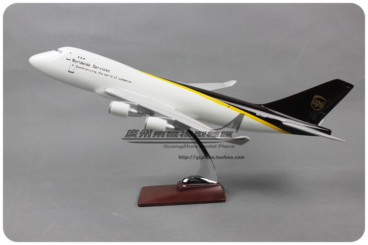 47cm Resin Air UPS Worldwide Services Airways Boeing B747 400 Airlines Plane Model Airplane Model Collections Decoration Gift(China (Mainland))