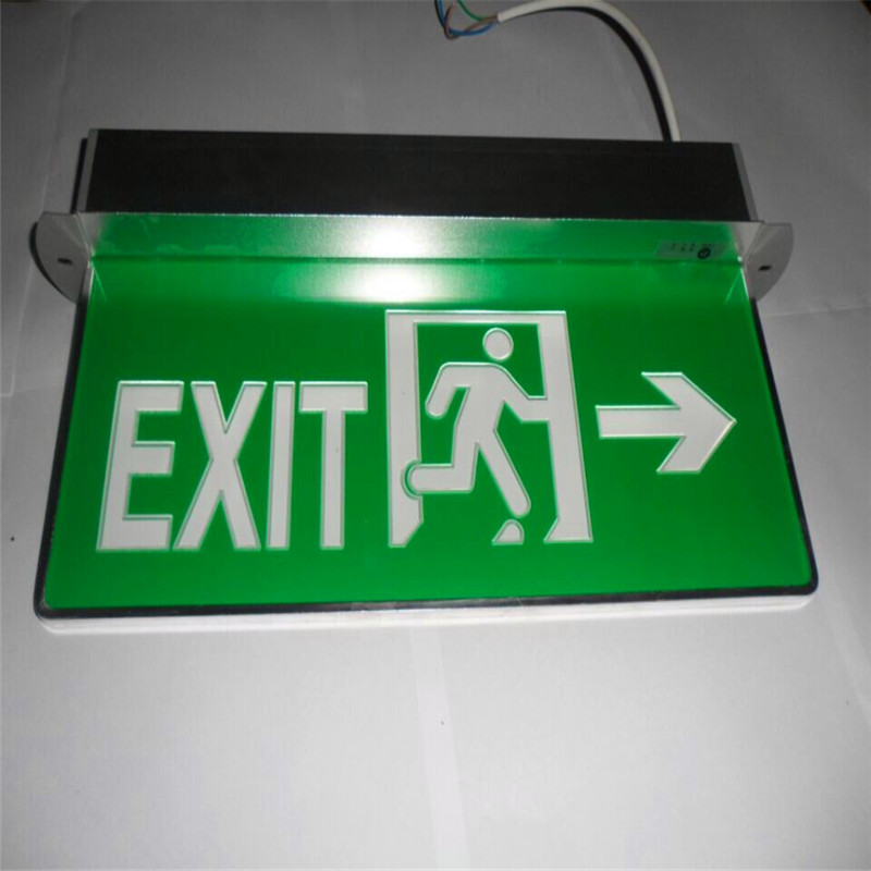 Emergency exit signs indicating lights comply with national safety standards of safety lights(China (Mainland))