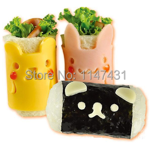 Small Animal Sushi Rice DIY Mold Set Bento Sandwich Rolls rice Hand-rolled Sushi tool Kimbap Tools Sets Free shipping 0045(China (Mainland))
