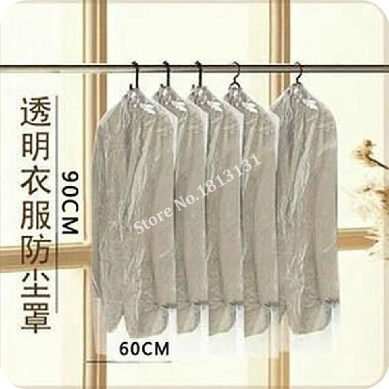 Dust ThickeneSuits Coats Dust Bag Transparent Clothing Dust Cover Pouch Cover Clothes Organizer Organizador F0209(100)(China (Mainland))