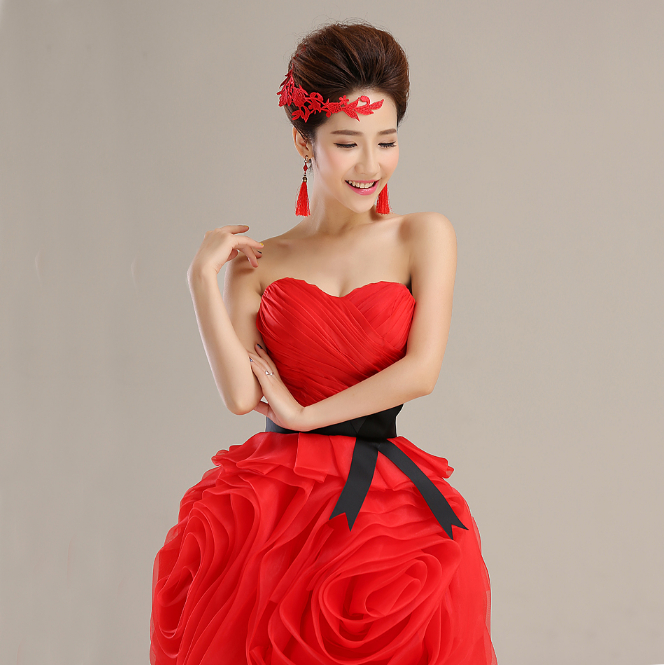 red pretty prom dress fitted sexy birthday party dresses for women ball gown buy direct from china free shipping S2483(China (Mainland))