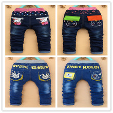 New spring autumn children's clothing baby boys girls jeans children cartoon trousers pants retail 2-5 years old free shipping