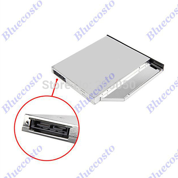 New Arrival 12.7mm Optical Bay 2nd SATA HDD Hard Drive Caddy Tray Adapter For Laptop Retail(China (Mainland))