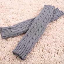 1 Pair Fashion Arm Warmer knitted Long Gloves Autumn And Winterfingerless gloves women(China (Mainland))