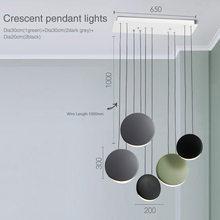 Скандинавский пост-современный минималистичный гостиная столовая подвесная панель освещения творческая личность полумесяц легкие подвес...(China)
