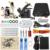 Профессиональные CompleteTattoo наборы Двойной Татуировки 2 Пулеметы тату практике кожи черный Шнур Питания Комплект бесплатная доставка