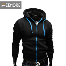 2016 new fashion Sweatshirt men hit color men hoodies hip hop side zipper mensports suit slim sportsware freeshipping tracksuit(China (Mainland))