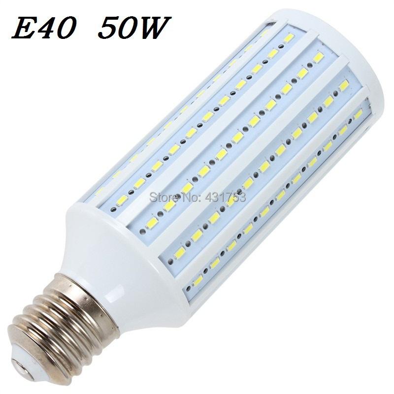 Promotion price E40 LED Corn Light 50W 5730 SMD 165 leds LED lamp Bulb Lighting 110V/220V/AC LED Bulbs & Tubes 2pcs/lot(China (Mainland))
