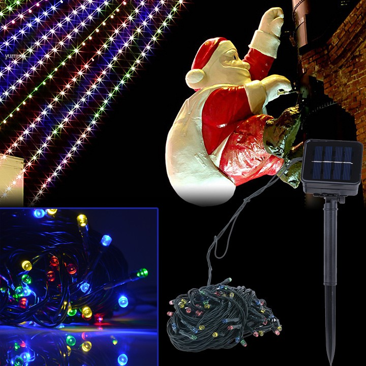 Best Outdoor Led String Lights : Holiday Best Sale Multi Color Solar Powered 100 LED Outdoor Garden String Party Fairy Lights ...