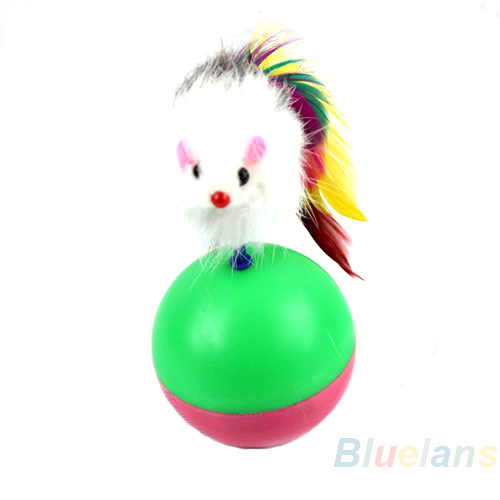 Home Cute Pet Cat Kitten Training Funny Mouse Mice Play Toy Tumbler Ball Products Gift Wholesale