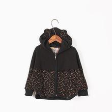 2016 Fashion Spring Cotton Children Coats Polka Dot Baby Girl Casual Hoodies Korean Style Kids Sweatshirt Clothes S4-30(China (Mainland))