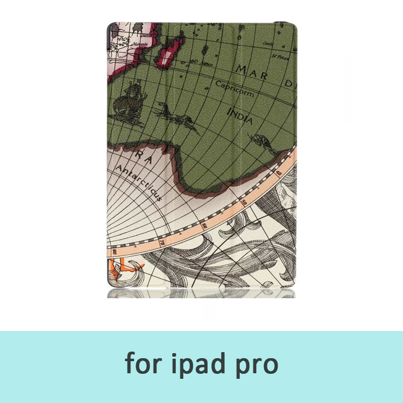 Beautiful Map High Quality PU Leather Stand Cover Case for iPad Pro 12.9inch Tablet Pc Fundas For Ipad Pro Cover Free Shipping(China (Mainland))