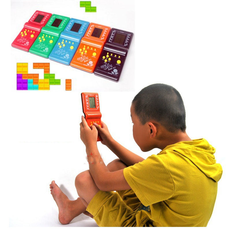 New Portable Handled Developmental Children Toys Educational Game Players High Quality Tetris Game console For KidsHot sale(China (Mainland))