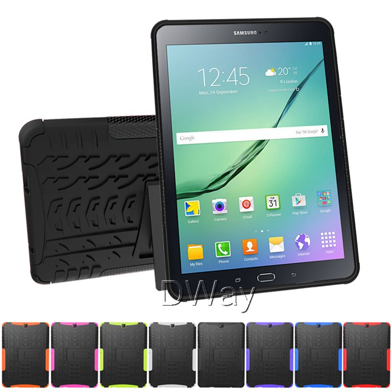 Hybrid Rugged Combo Heavy Duty Hard Cover Case for Samsung Galaxy Tab S2 9.7 T810 Stand Tablet Case With Kickstand 10PCS/LOT<br><br>Aliexpress