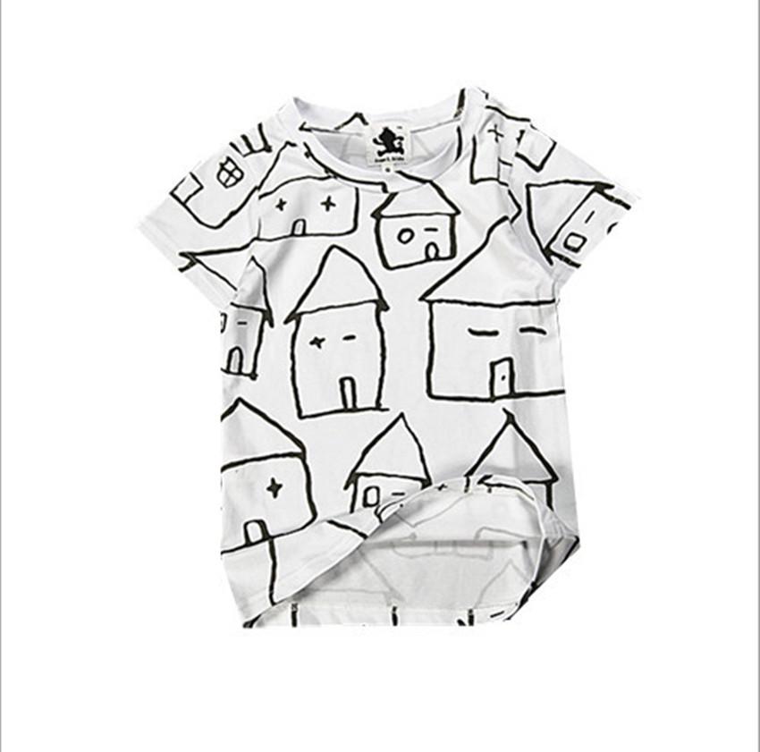 Bobo Choses Kid&Kind T Shirt Girls Boys Cotton Short Sleeve Baby Shirts Children's Clothing for Kids 2015 Summer Kids Tees YA155(China (Mainland))