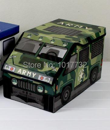 Army Police car storage box toy organizer box for toys children baby storage clothes storage makeup organizer basket(China (Mainland))
