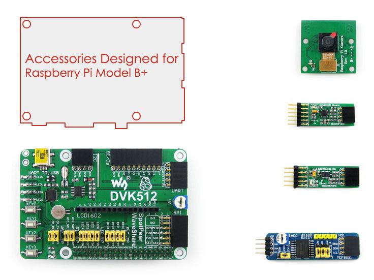 Raspberry pi Model B+ Accessories DVK512 Raspberry-pi Expansion Board+Rasp berry pi Camera+Development Kits(China (Mainland))