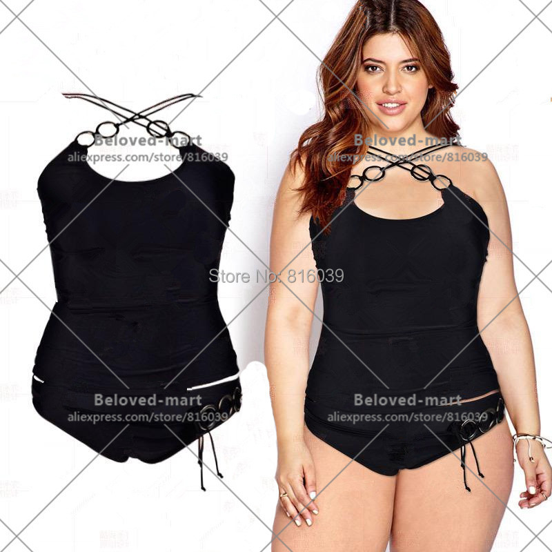 sexy two piece swimsuit plus size swimwear women high waist swimsuit monokini maillot de bain. Black Bedroom Furniture Sets. Home Design Ideas
