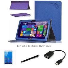 "4in1 protective Leather Case +OTG+ Screen Protector+touch pen For Cube I7 Remix 11.6"" Tablet PC dormancy"