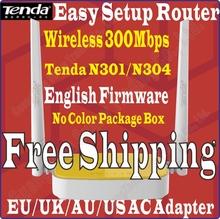 EU/UK/AU Plug Tenda 300M Wireless N Router Home Networking WiFi Repeater Access Point 300Mbps 4Ports 802.11g/b/n N301/N304 Prom-(China (Mainland))