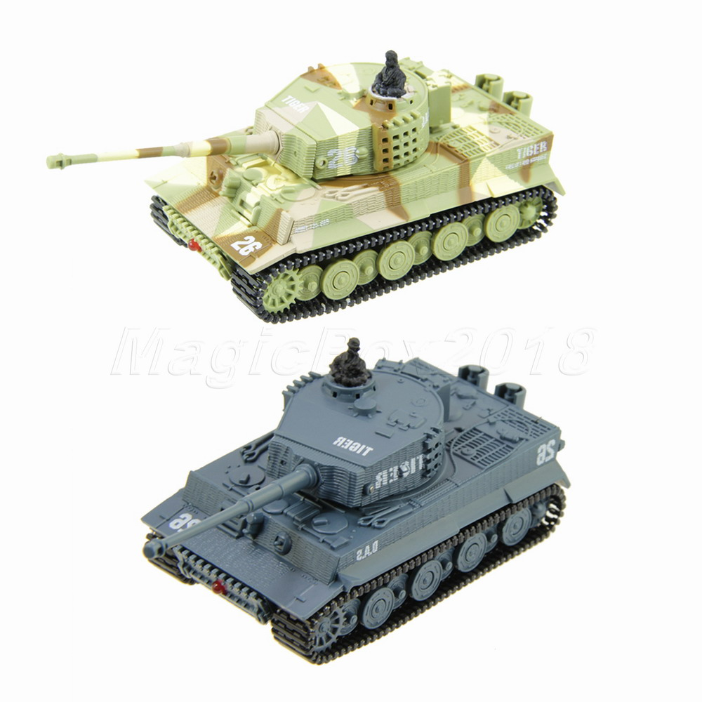 Hot Selling Mini Radio Remote Control Tank RC German Military Tiger Tank with Sound Light Toy For Childs(China (Mainland))