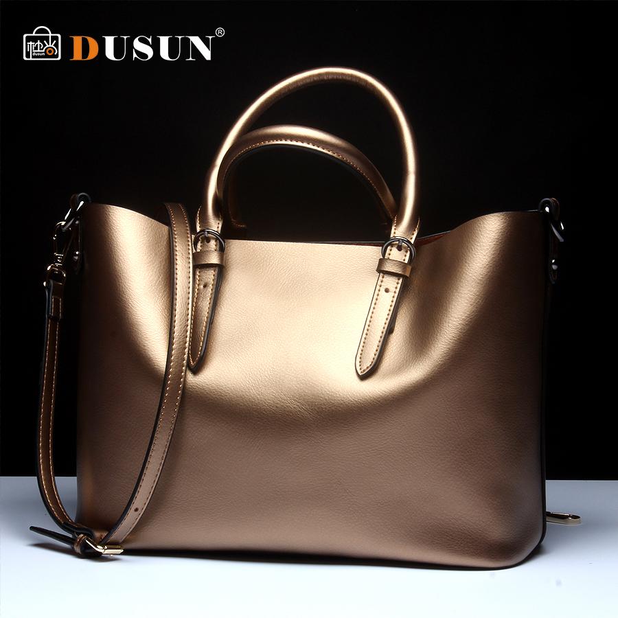 Dusun Genuine Leather Bag New Women leather Handbags Famous Brand women messenger Bags Ladies Shoulder Bolsos 2015 SS04