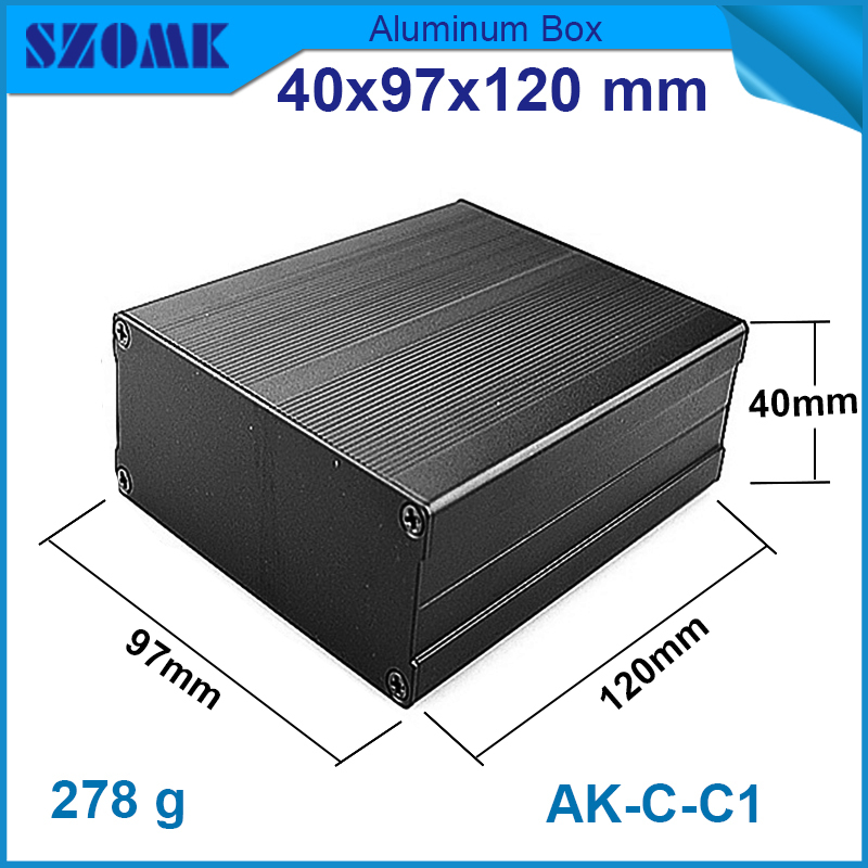 1 piece aluminium circuit breaker box aluminum Customized aluminum junction box case electrical case 40(H)x97(W)x120(L)(China (Mainland))