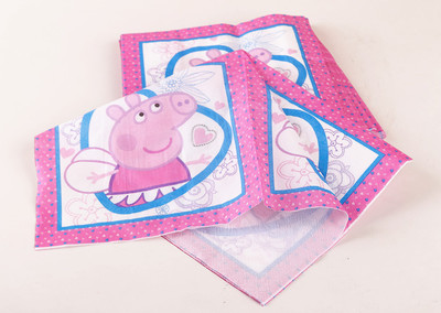Napkin 20Pcs Pig Cartoon Party Napkins Pink Table Supplies Paper Birthday Party Supply Gift Cute Theme(China (Mainland))