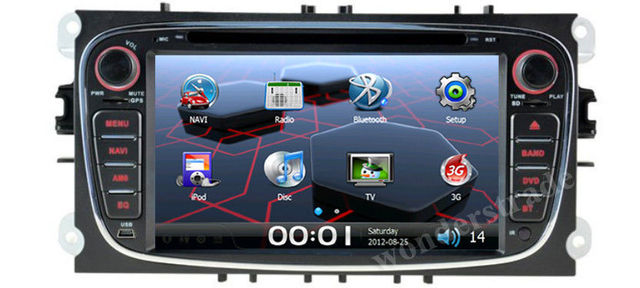 "7"" Car DVD GPS navigation Radio  stereo for Ford S-max / C-max  / Transit / Fiesta / Galaxy / Kuga / Focus / Mondeo +3G internet"