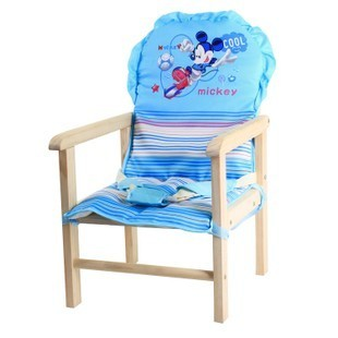 Full Cushion Child Dining Chair Cushion Single Seat Full Set Dining Chair Safety Belt Ingrooming