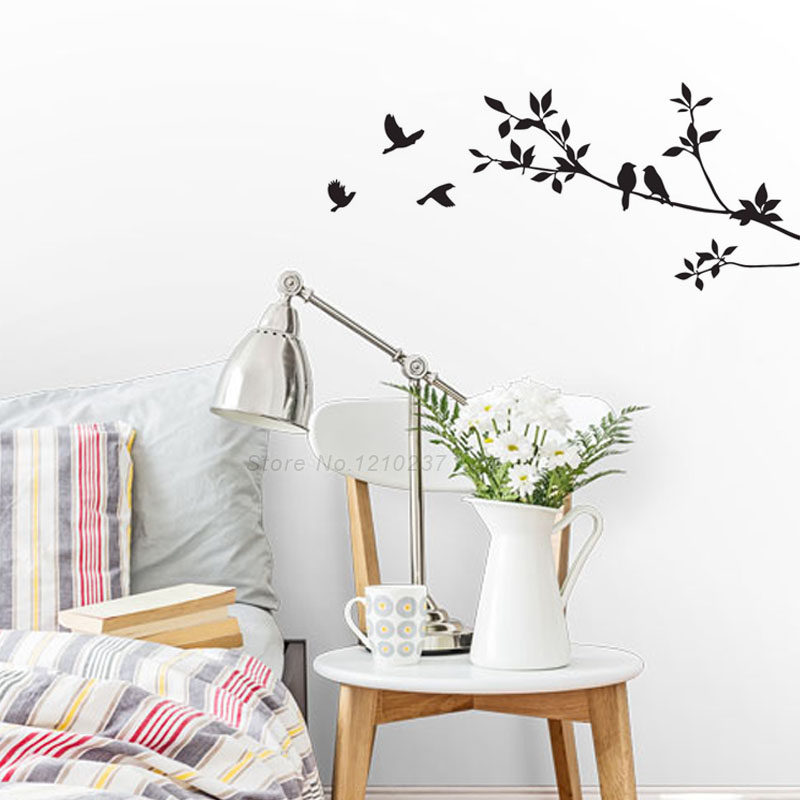 DCTOP Black Bird Tree Branch Wall Stickers DIY Art Home Family Decals Kids Nursery Decor Decoration - Temptation Angels store