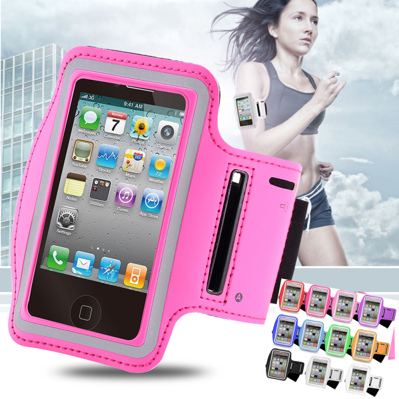 Adjustable Running SPORT GYM Armband Bag Case for iPhone 5 5S 5C Waterproof Jogging Arm Band Mobile Phone Belt Cover+Wholesale