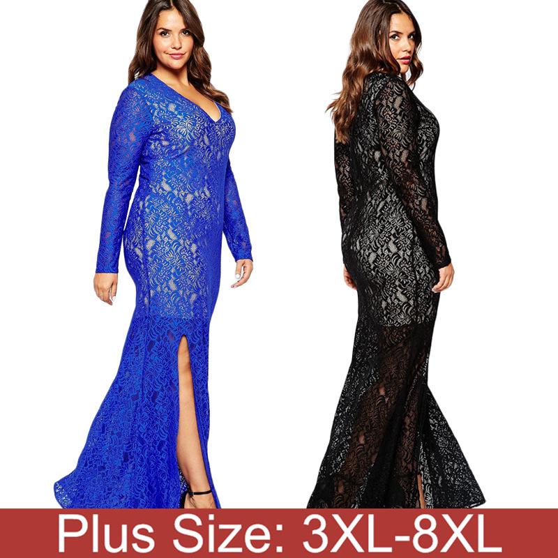 7xl 8xl elegant women plus size maxi floor length dress. Black Bedroom Furniture Sets. Home Design Ideas