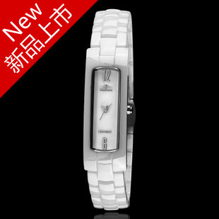 Watch female fashion bracelet watch white ceramic table ladies watch fashion table women's table