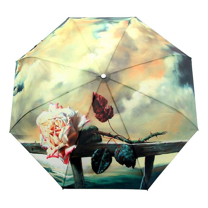 Free Shipping Rose Oil Painting Umbrella Romantic Folding Classic Anti-uv Sun/Rain Durable Automatic Umbrella(China (Mainland))