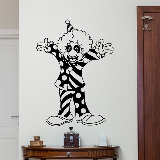 Bouffon d corations promotion achetez des bouffon for Decoration fenetre clown
