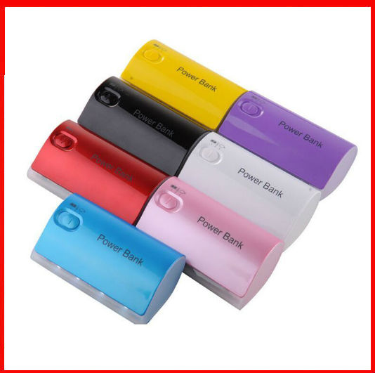 customizable logo wholesale 200 pcs/lot practical Power Bank 5600mah Push sliding button switch external battery charger(China (Mainland))