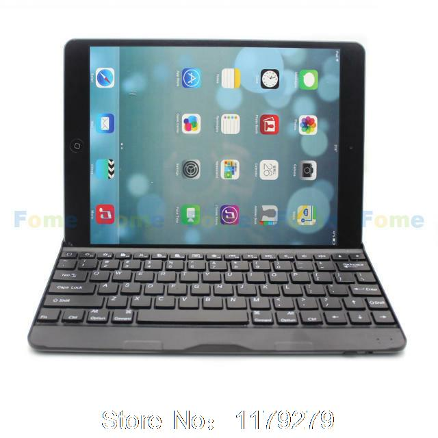 2015 new Bluetooth Aluminum Keyboard Case Cover For iPad air 2 / for iPad 6 / for iPad air 5(China (Mainland))