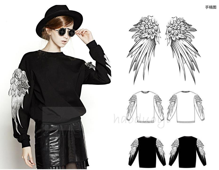 Angel Wings Sweater Fashion Women 2014 Clothes Couple Hoodies Sweetshirt XS-XXL - Cathy's Top Store store