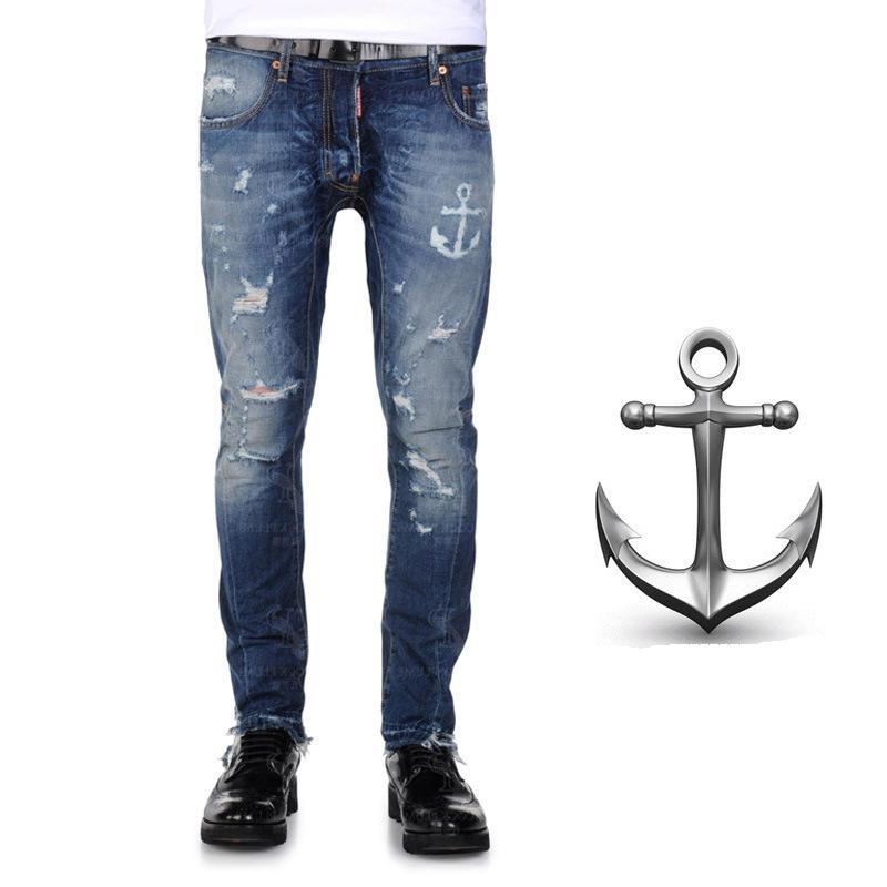 Men's jeans high quality skinny jeans famous brand dsq jeans men mens designer jeans