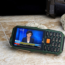 "DBEIF D2017 Antenna Analog TV 3.5"" handwriting touch screen flashlight power bank dual sim card FM mobile phone(China (Mainland))"