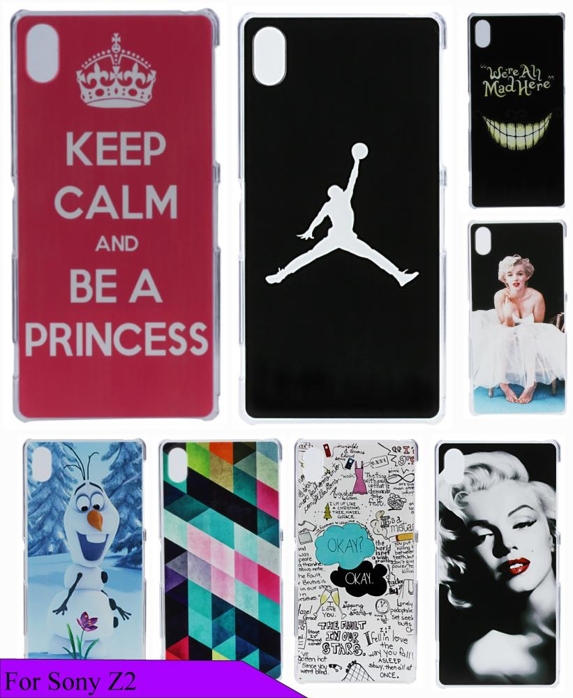 Beauty Painting Skin Keep Calm Pink Custom High Quality Hard Plastic Luxury Logo Case Cover for Sony Xperia Z2 D650 D6503 L50W(China (Mainland))