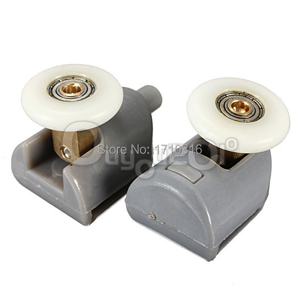 2Pcs Wholesale High Quality Nylon Plastic 304 Stainless Steel ABS Brass Shower Door Rollers Runners Wheels Pulleys 25mm Wheel(China (Mainland))