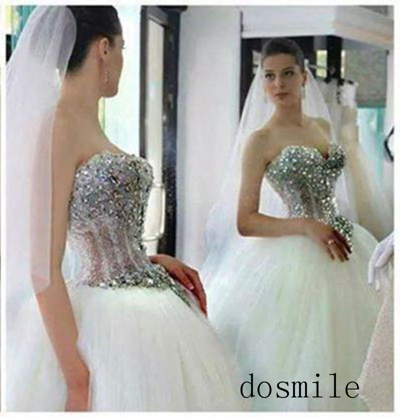 Princess wedding dresses corset promotion shop for for Wedding dresses with pearls and diamonds