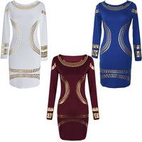 spring office dress work bodycon european style knee length midi dress fashion sale 2015 cheap clothes china vestidos branco R42