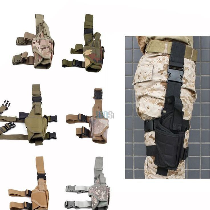 Adjustable Tactical Pistol/Gun Drop Leg Thigh Holster w/ Mag Pouch Right Hand(China (Mainland))