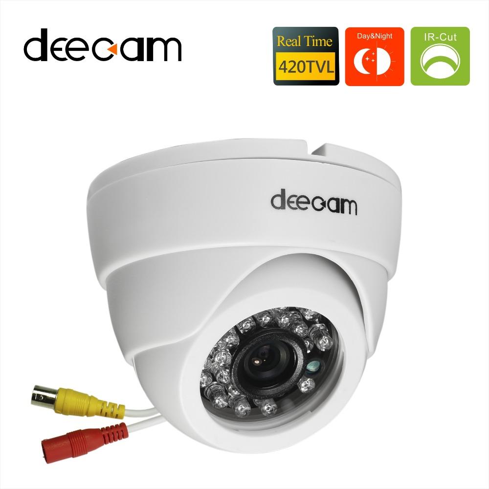 Deecam Sony ccd 420TVL IR Lens 3.6mm Distance 20M CCTV Indoor Dome Security Camera Home ...