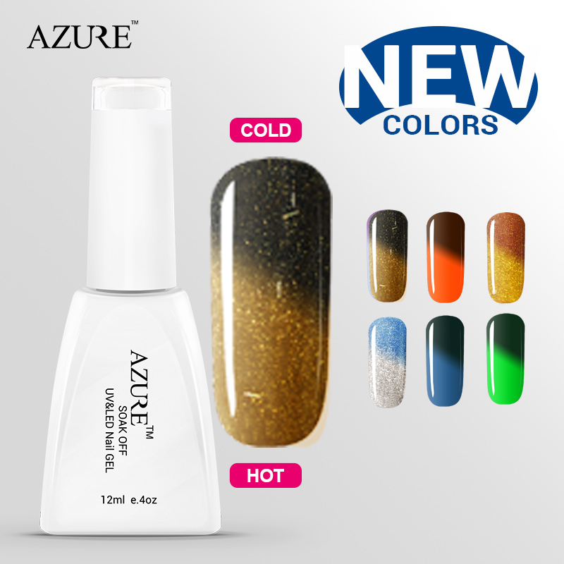 Brand New Azure smart gel Chameleon Temperature Change Color Gel great gel lacquer shiny color nail polish uv gel free shipping(China (Mainland))