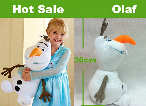 Olaf Plush Toys 30cm Brinquedos Stuffed Plush Dolls Accessories Free Shipping Kawaii Brinquedo olaf pelucia(China (Mainland))