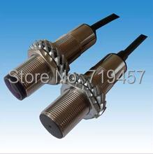 FREE SHIPPING 5PCS/LOT M18 NPN laser photoelectric switch Laser sensor 20 meters(China (Mainland))
